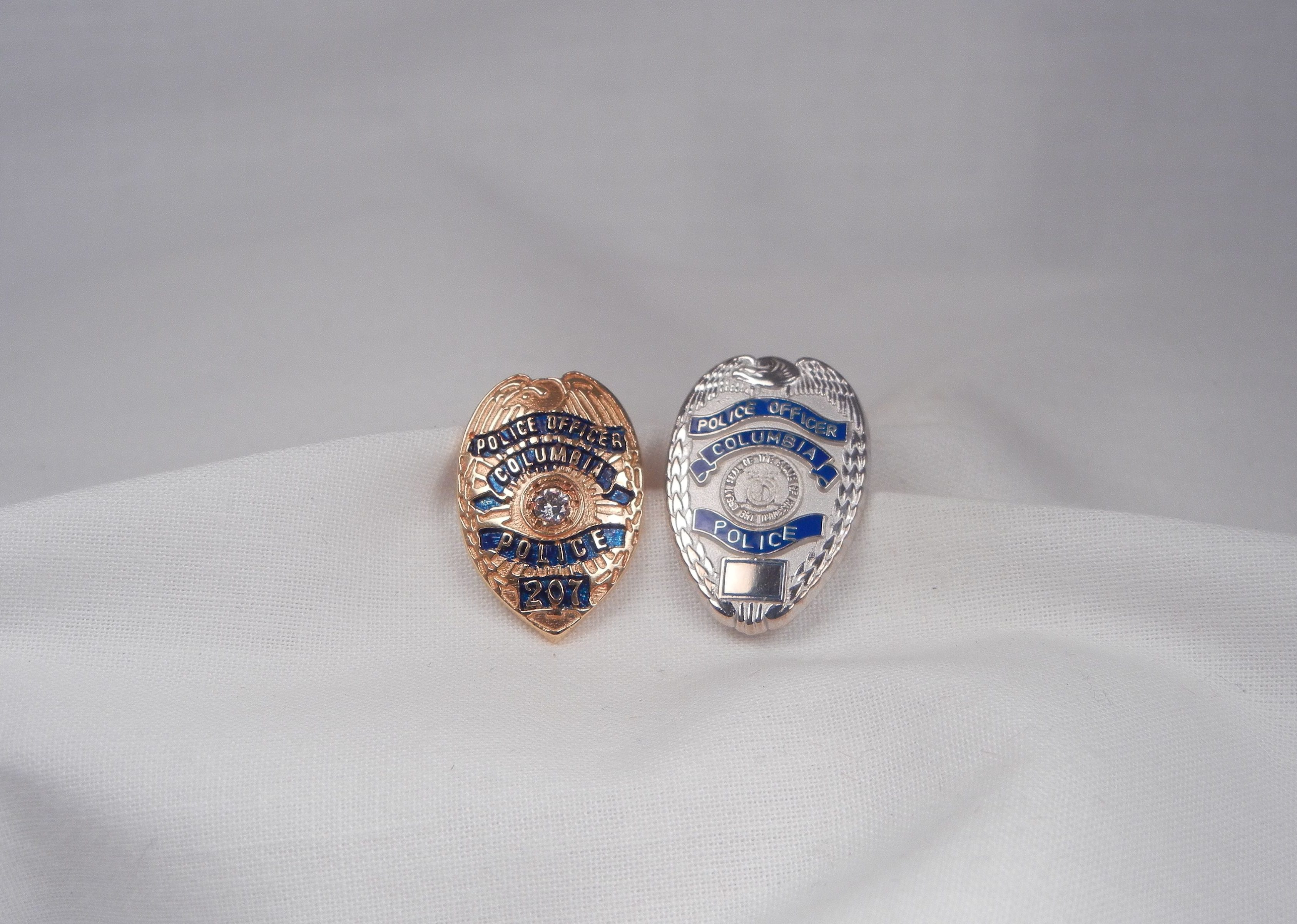 police patriotic line thin and charm blue jewelry badge heart insignia pendant